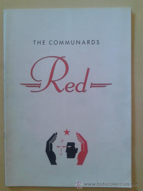 LIBRO-REVISTA - THE COMMUNARDS - GIRA PROMOCIONAL ALBUM RED 1987 (Música - Catálogos de Música, Libros y Cancioneros)