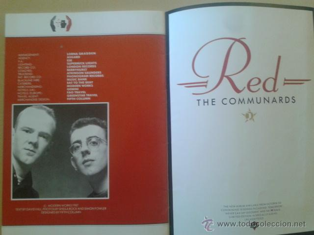Catálogos de Música: LIBRO-REVISTA - THE COMMUNARDS - GIRA PROMOCIONAL ALBUM RED 1987 - Foto 5 - 48426718