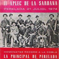 Catálogos de Música: II APLEC DE LA SARDANA PERELADA 21 JULIOL 1974. Lote 48532137