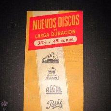 Catálogos de Música: CATALOGO NUEVOS DISCOS AÑO 1955 - 120 PAGINAS . Lote 48559606