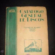 Catálogos de Música: CATALOGO GENERAL DE DISCOS LA VOZ DE SU AMO - ODEON- REGAL-AÑO 1947 - 240 PAGINAS . Lote 48559648