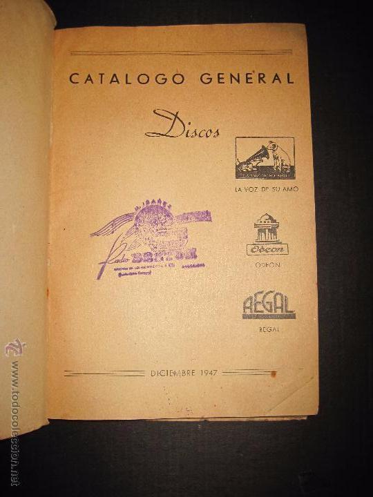 Catálogos de Música: CATALOGO GENERAL DE DISCOS LA VOZ DE SU AMO - ODEON- REGAL-AÑO 1947 - 240 PAGINAS - Foto 2 - 48559648