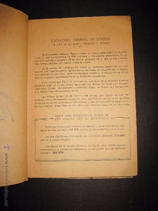 Catálogos de Música: CATALOGO GENERAL DE DISCOS LA VOZ DE SU AMO - ODEON- REGAL-AÑO 1947 - 240 PAGINAS - Foto 3 - 48559648