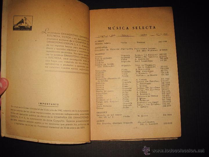 Catálogos de Música: CATALOGO GENERAL DE DISCOS LA VOZ DE SU AMO - ODEON- REGAL-AÑO 1947 - 240 PAGINAS - Foto 4 - 48559648