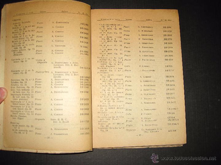 Catálogos de Música: CATALOGO GENERAL DE DISCOS LA VOZ DE SU AMO - ODEON- REGAL-AÑO 1947 - 240 PAGINAS - Foto 5 - 48559648