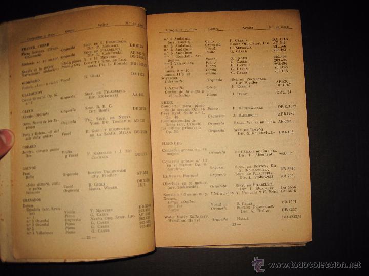 Catálogos de Música: CATALOGO GENERAL DE DISCOS LA VOZ DE SU AMO - ODEON- REGAL-AÑO 1947 - 240 PAGINAS - Foto 6 - 48559648