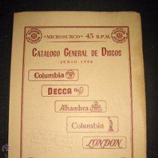 Catálogos de Música: CATALOGO GENERAL DE DISCOS MICROSURCO - JUNIO 1956 - 118 PAGINAS . Lote 48559705