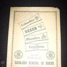 Catálogos de Música: CATALOGO GENERAL DE DISCOS MICROSURCO - ENERO 1955 - 75 PAGINAS . Lote 48559727