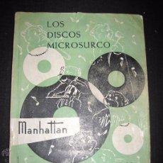 Catálogos de Música: CATALOGO GENERAL DE DISCOS MICROSURCO - 1956 - 214 PAGINAS . Lote 48559809