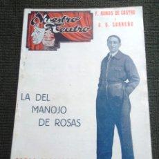 Catálogos de Música: LA DEL MANOJO DE ROSAS PABLO SOLOZABAL ED ATLAS NUESTRO TEATRO 1934 62 PÀG, V FOTOS. Lote 48695336