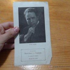 Catálogos de Música: ANTIGUO FOLLETO DE TITTA RUFFO, ESCRITO DETRAS DE BARCELONA. Lote 48696545