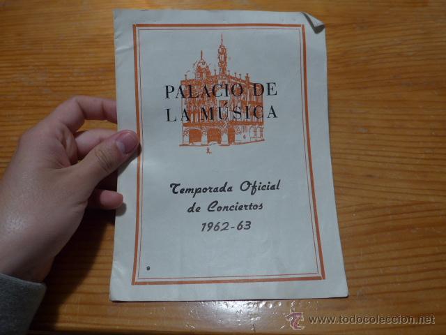 ANTIGUO CATALOGO DE MUSICA DE PALACIO DE LA MUSICA, 1962 -63 (Música - Catálogos de Música, Libros y Cancioneros)