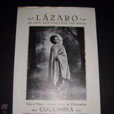 Catálogos de Música: CATALOGO DE DISCOS - HIPOLITO LAZARO - EL DIVO DE LOS DIVOS - VER FOTOS. Lote 48732703