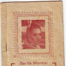 Catálogos de Música: CANCIONERO DE SARITA MONTIEL DE LA PELÍCULA EL ÚLTIMO CUPLÉ. Lote 48779634