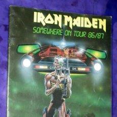 Catálogos de Música: TOUR BOOK - IRON MAIDEN - SOMEWHERE ON TOUR 86/87. Lote 48782018