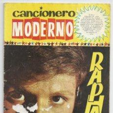 Catálogos de Música: CANCIONERO MODERNO *RAPHAEL* - EDICIONES ESTE 1965. Lote 48927933
