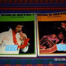 Catálogos de Música: HISTORIA DEL ROCK'N'ROLL NºS 1 Y 2 POR DIEGO MANRIQUE. INICIATIVAS EDITORIALES 1977. CUADERNOS ROCK.. Lote 48962507