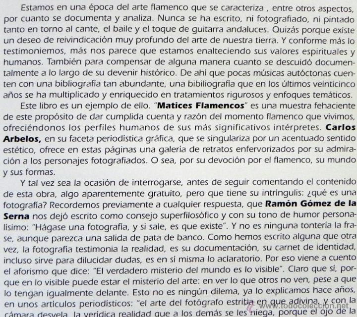 Catálogos de Música: MATICES FLAMENCOS - CARLOS ARBELOS - FOTOGRAFÍA ARTISTAS - FLAMENCO FOTOS ARTE CANTE MÚSICA - LIBRO - Foto 2 - 49138447