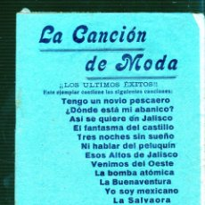 Catálogos de Música: LA CANCION DE MODA. CANCIONERO. Lote 49282184