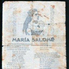 Catálogos de Música: MARIA SALOME. EL BARCO VELERO.. Lote 49284328