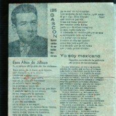 Catálogos de Música: YO SOY MEXICANO. ESOS ALTOS DE JALISCO. ASI SE QUIERE EN JALISCO. AY, JALISCO, NO TE RAJES. ANDA YA.. Lote 49296855