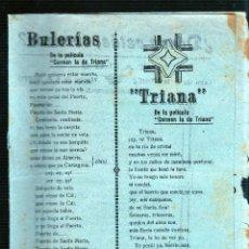 Catálogos de Música: BULERIAS. TRIANA. DONDE ESTAS, CORAZON. EL NEGRO QUE TENIA EL ALMA BLANCA. CANCIONES DE ANGELILLO.. Lote 49296979