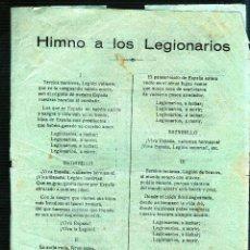Catálogos de Música: HIMNO A LOS LEGIONARIOS. GIOVINEZZA. HIMNO DE LOS PELAYOS. MARIA SALOME.. Lote 49297598