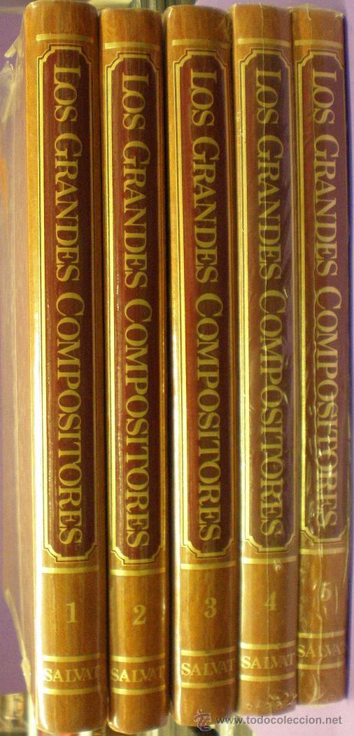 LOS GRANDES COMPOSITORES - SALVAT - 5 TOMOS - PRECINTADOS (Música - Catálogos de Música, Libros y Cancioneros)