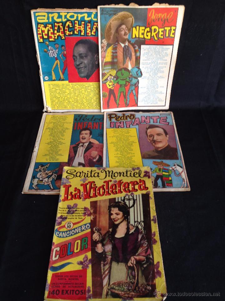 LOTE 5 CANCIONEROS ORIGINALES. (Música - Catálogos de Música, Libros y Cancioneros)