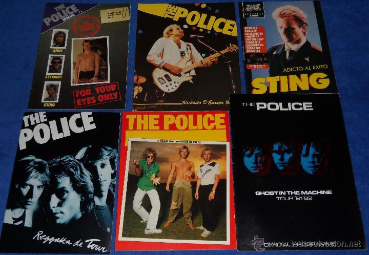 THE POLICE - OFFICIAL PROGRAMME - TOUR 81 82 - GHOST IN THE MACHINE (Música - Catálogos de Música, Libros y Cancioneros)