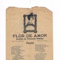 Catálogos de Música: CANCIONERO ANTIGUO 2 HOJAS FLOR DE AMOR. Lote 50595510