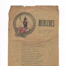 Catálogos de Música: CANCIONERO ANTIGUO 2 HOJAS MERCEDES. Lote 50595640