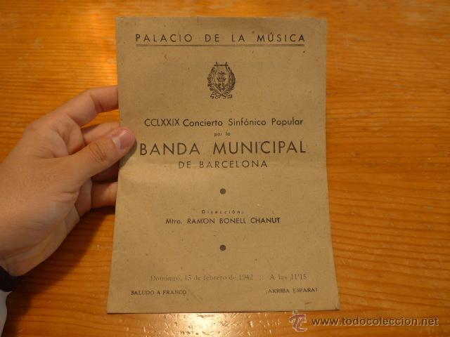 ANTIGUO CATALOGO PALACIO DE LA MUSICA DE BARCELONA, 1942 (Música - Catálogos de Música, Libros y Cancioneros)
