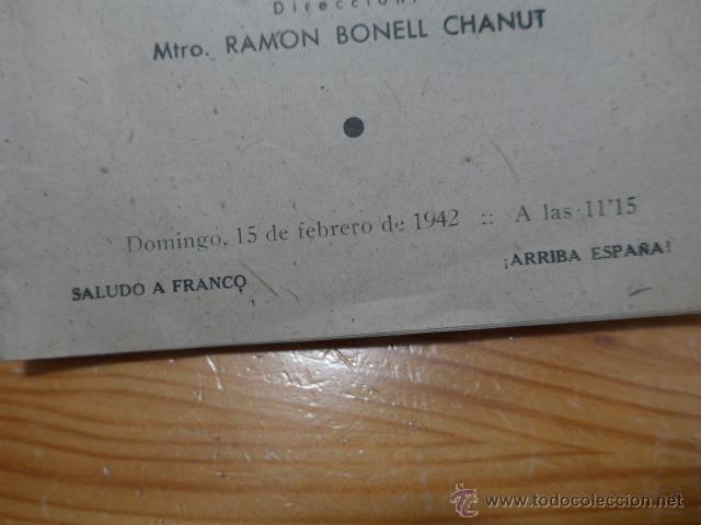 Catálogos de Música: Antiguo catalogo palacio de la musica de barcelona, 1942 - Foto 2 - 50599761