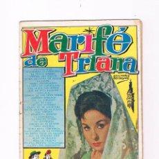 Catálogos de Música: CANCIONERO MARIFÉ DE TRIANA EDICIONES BISTAGNE NÚMERO 51 1963. Lote 50701604