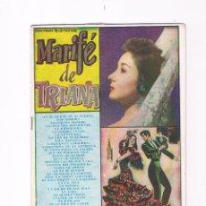Catálogos de Música: CANCIONERO MARIFÉ DE TRIANA EDICIONES BISTAGNE 1960. Lote 50701645