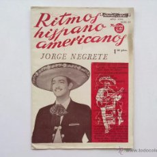 Catálogos de Música: CANCIONERO, JORGE NEGRETE. Lote 50961304
