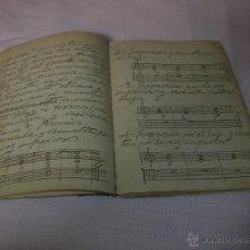 Catálogos de Música: MUY INTERESANTE LIBRETA MANUSCRITA DE MÚSICA. Lote 51107505