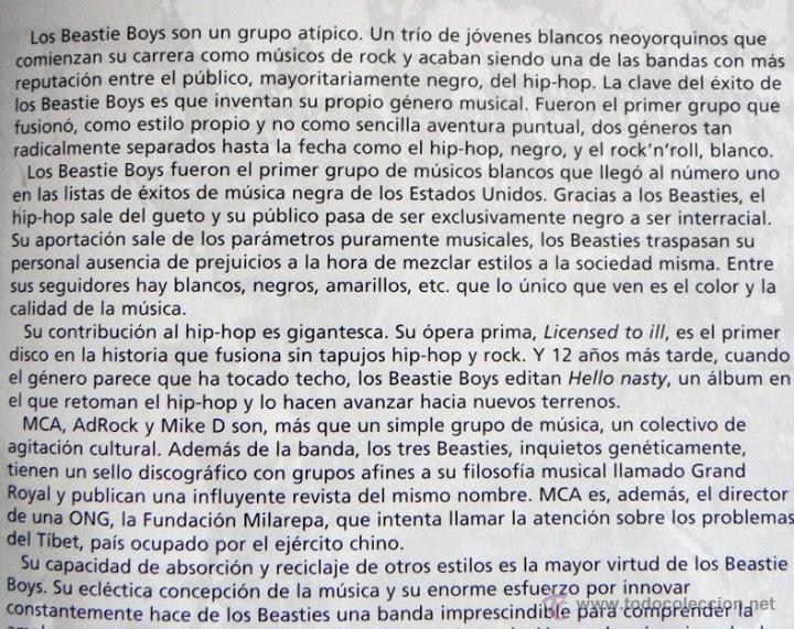 Catálogos de Música: Beastie Boys white cool factory - LIBRO IMÁGENES DE ROCK MÁSCARA - GRUPO MÚSICA HIP HOP PÓSTER FOTOS - Foto 4 - 51216503