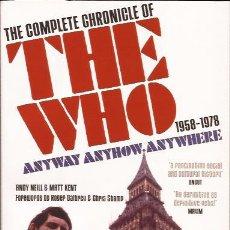 Catálogos de Música: LIBRO DE MUSICA-THE WHO THE COMPLETE CHRONICLE OF...1958-1978-VIRGIN BOOKS 2005 MOD. Lote 51502009