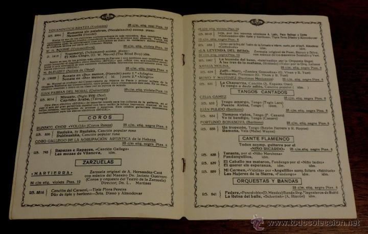 Catálogos de Música: Catálogo Regal discos eléctricos Impresión Viva Tonal, Suplemento n. 57, Octubre de 1928, 8 pag. mid - Foto 2 - 51591821