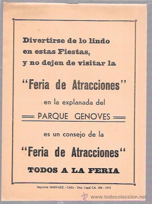 Catálogos de Música: LIBRETO FOLLETO DE CARNAVAL. AÑO 1972. CORO. LOS CONSERVADORES DEL TANGO. CADIZ. - Foto 2 - 51663061