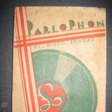 Catálogos de Música: CATALOGO GENERAL AGOSTO 1930 - PARLOPHON - EL DISCO SONORO VER FOTOS - 183 PAG. -(V-3134). Lote 51820293