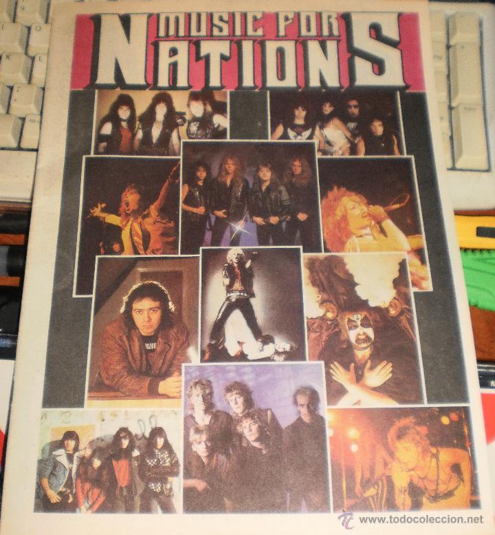MUSIC FOR NATIONS CATALOGO-REVISTA.HEAVY METAL.VER FOTOS (Música - Catálogos de Música, Libros y Cancioneros)
