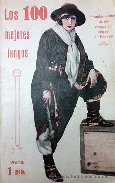 ´LOS 100 MEJORES TANGOS´. ANTIGUO CANCIONERO EDITADO EN BARCELONA C 1930 (Música - Catálogos de Música, Libros y Cancioneros)