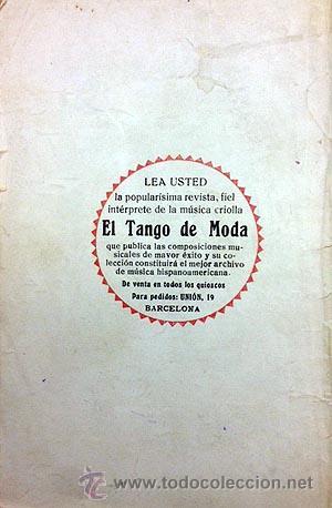 Catálogos de Música: ´Los 100 mejores tangos´. Antiguo Cancionero editado en Barcelona c 1930 - Foto 4 - 53107348