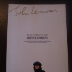 Catálogos de Música: LIBRO CANCIONES Y FOTOS THE LYRICS OF JOHN LENNON / 1997 / OMNIBUS PRESS. Lote 53185407