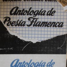 Catálogos de Música: ANTOLOGIA POESIA FLAMENCA.ANSELMO GONZALEZ CLIMENT.1961.383 PG.SELLOS ANTERIOR POSEEDOR.FLAMENCO. Lote 53213184