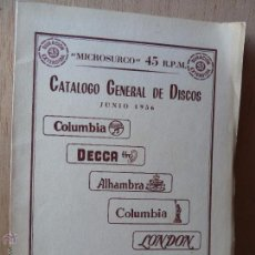 Catálogos de Música: CATALOGO MONOURAL DE DISCOS COLUMBIA 1956-DECCA- ALHAMBRA-BARCLAY -LONDON. Lote 54044374