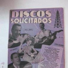 Catálogos de Música: DISCOS SOLICITADOS Nº 3. DISCOS ODEON, REGAL, LA VOZ DE SU AMO. EDICIONES BISTAGNE.. Lote 54202883